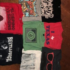 Band, Volcom, and Random Tee Bundle